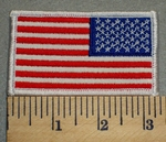 2385 W - Reverse American Flag - Embroidery Patch