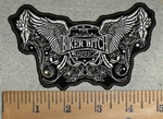 3204 G - Rhinestone Eagle Wings - Original Biker Bitch - Embroidery Patch
