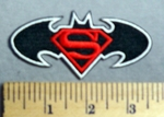 2921  C - Superman - Batman Logo - Embroidery Patch