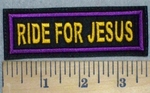 3423 L - Ride For jesus -  Yellow Gold - Embroidery Patch