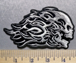 2166 G - Celtic Gray Skull -  Embroidery Patch