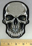 2038 G - discontinued Skull Face With HARDCORE Engraved In Teeth - Embroidery Patch