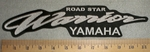 2714 L - Road Star Warrior Yamaha Back Patch - Embroidery Patch