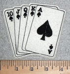 3103 C- Royal Flush Of Spades - Embroidery Patch
