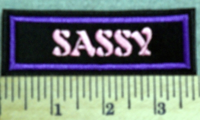 2987 L - Sassy - Pink - Embroidery Patch