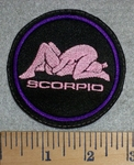 2809 L - Scorpio - Zodiac Sign - Sexual Position - Embroidery Patch