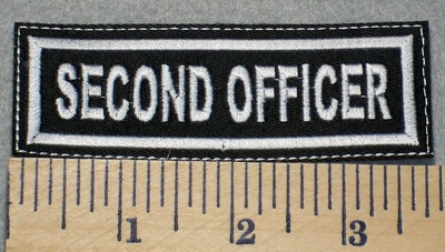 2309 L - Second Officer - Embroidery Patch