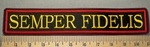 2348 L - Semper Fidelis - 11 Inch Straight - Embroidery Patch