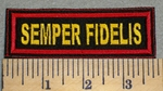 2405 L - Semper Fidelis -Yellow Lettering - Embroidery Patch