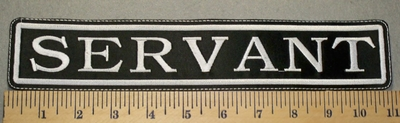 2349 L - Servant - 11 Inch Straight Patch - Embroidery Patch