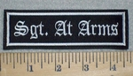 3242 L - Sgt. At  Arms - 4 Inch -  Embroidery Patch