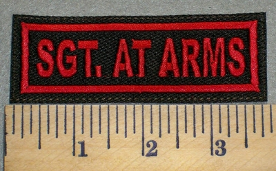 2423 L - SGT. At Arms - Embroidery Patch