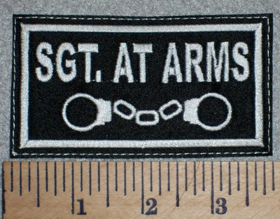 2688 L - SGT. AT ARMS - With Handcuffs - Embroidery Patch