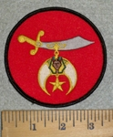 3175 W - Shrine Scimitar - Red - Embroidery Patch