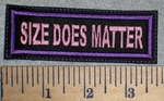 2632 L - Size Does Matter - Purple Border - Embroidery Patch