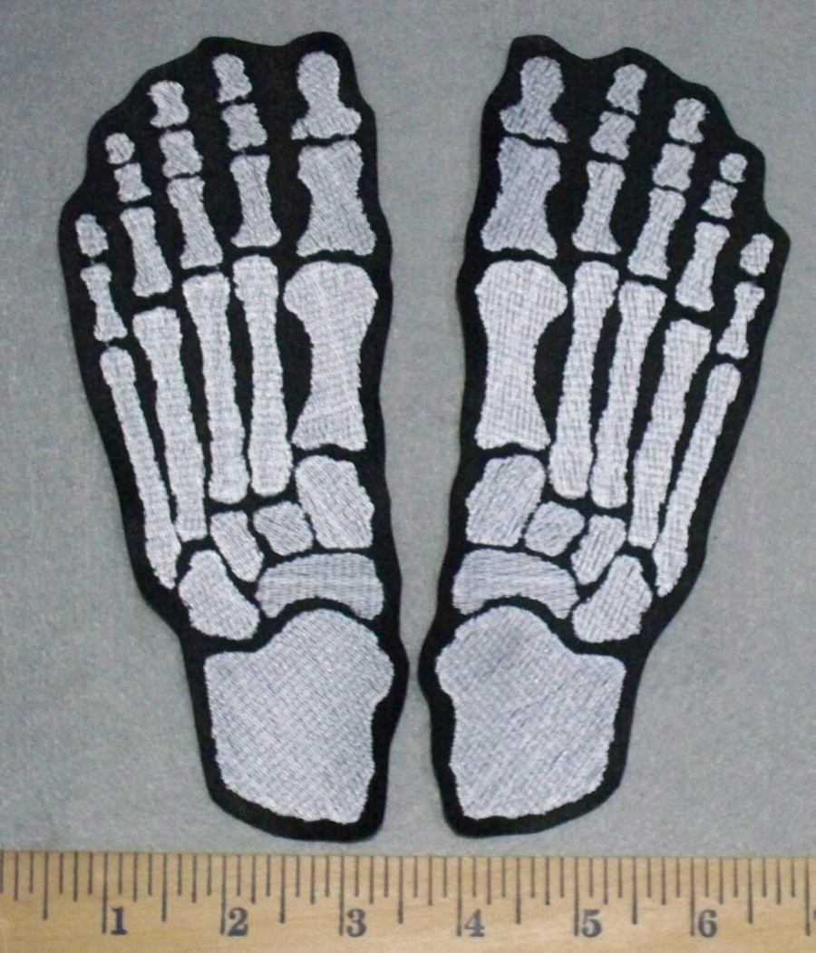3500 L Skeleton Feet Set Embroidery Patch