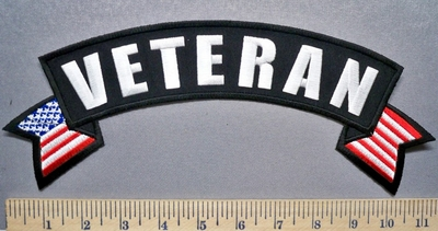3283 CP - Veteran - Top Rocker - Embroidery Patch