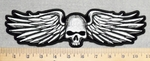 3020 G - Skull Face With Wings - Back Patch - Embroidery Patch