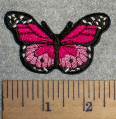 2684 C - Small Pink Butterfly - Embroidery Patch