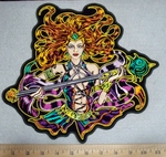 3313 G - Sorceress - back Patch - Embroidery Patch