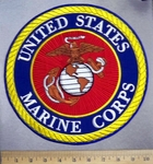 1819 G - discontinued  United States Marine Corps - Round - Back Patch - Embroidery Patch