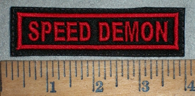 3507 L - Speed Demon - Red - Embroidery Patch