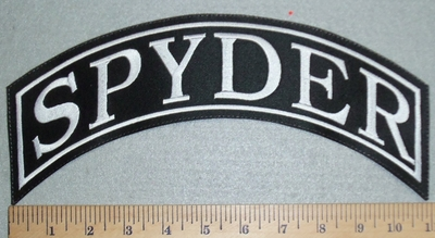 3130 L - Spyder - Top Rocker - Embroidery Patch