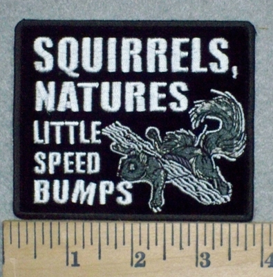 3260 G - Squirrels, Natures Little Speed Bumps - Embroidery Patch