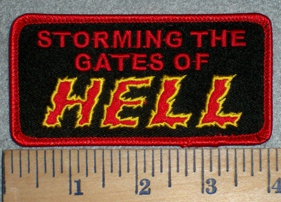 3359 W - Storming The Gates Of HELL - Embroidery Patch