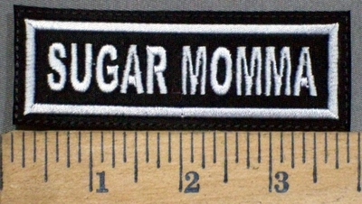 190 L - SUGAR MOMMA - EMBROIDERY PATCH - WHITE