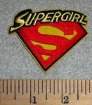 2692 C - Supergirl  With Logo - Embroidery Patch