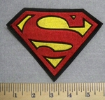 2528 L - Superman Logo - Embroidery Patch