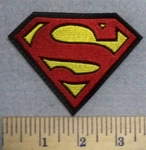2529 L - Superman Logo- Small Version  - Embroidery Patch
