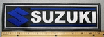2230 L - Suzuki With Logo -  11 Inch Straight - Blue -Embroidery Patch