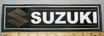 2268 L - Suzuki With Logo - Brown - 11 Inch Straight - Embroidery Patch