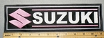 2270 L - Suzuki With Logo - Pink - 11 Inch Straight - Embroidery Patch