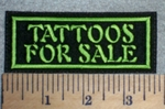 2656 L - Tattos For Sale - Green - Embroidery Patch