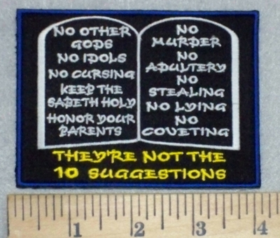 3473 W - Ten Commandment Tablets - They're NOT The 10 SUGGESTIONS - Embroidery Patch