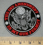2186 G - The 2nd Amendment Is My Gun Permit - Round - Embroidery Patch