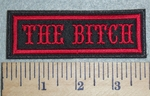 2992 L - The Bitch - Red - Embroidery Patch