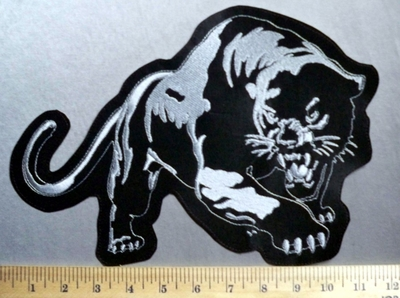 1365 L - Black Panther - Back Patch - Embroidery Patch
