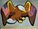 2820 R - American Eagle With American Flag - Confederate Flag Within Wings - Back Patch - Embroidery Patch