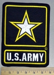 1728 R - U.S. Army With Star - Back Patch - Embroidery Patch