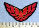 2946 L - Trans Am Firebird Car Logo - Red - Embroidery Patch