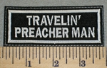 2371 L - Travelin' Preacher Man - Embroidery Patch