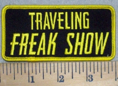 3456 G - Traveling Freak Show - Yellow - Embroidery Patch