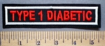 2728 L - Type 1 Diabetic - Embroidery Patch