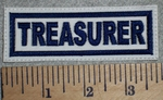 2708 L - Treasurer - White Background - Embroidery Patch