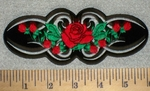2600 N - Tribal Design With Red Roses - Embroidery Patch