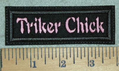 3122 G - Triker Chick - Pink - Embroidery Patch